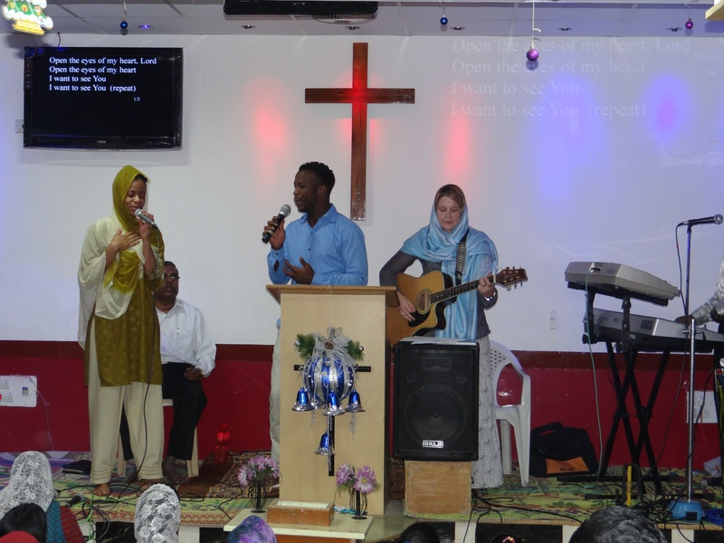 S.A team leading worship