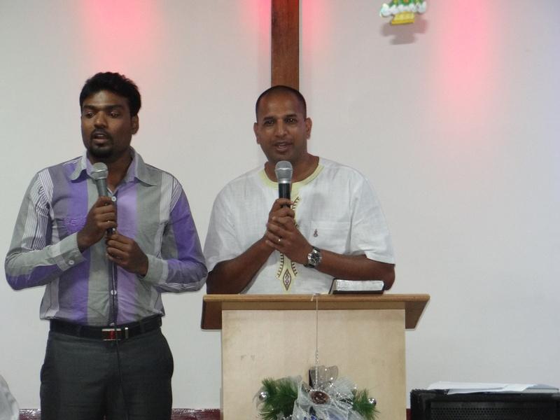 Pr. Derrick Preahing the word of God