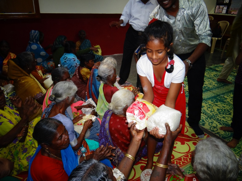 Distribution of Rice and flour